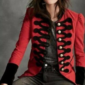 Free People Red military jacket